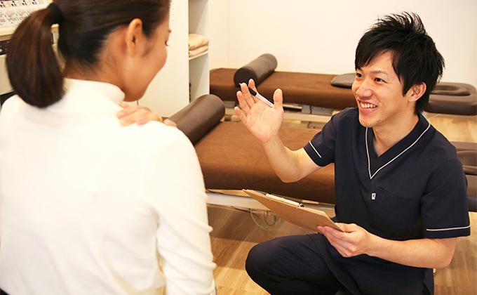 問診と触診 からだ鍼灸整骨院の治療の流れ STEP2